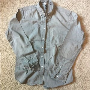 Uniqlo grey denim button down shirt Large